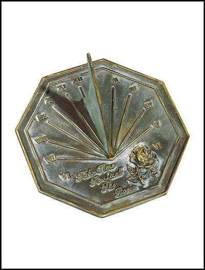 Rome Industries 2320 Brass Rose Sundial