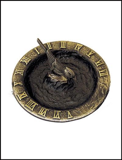 Rome Industries 2322 Brass Birdbath Sundial