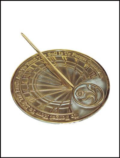 Brass Gardeners Reflection Sundial