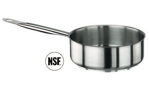 Paderno World Cuisine 11008-16 SautT Pan  Stainless Steel  No Lid