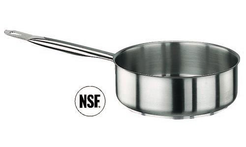 Paderno World Cuisine 11008-24 SautT Pan  Stainless Steel  No Lid