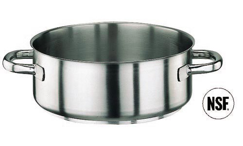 Paderno World Cuisine 11009-20 Rondeau  Stainless Steel  No Lid