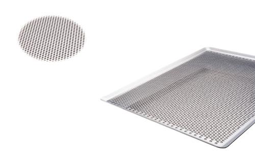 Paderno World Cuisine 41756-32 Perforated Aluminum Baking Sheet  45 Degrees