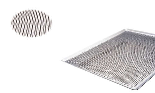Paderno World Cuisine 41756-60 Perforated Aluminum Baking Sheet  Flat 45 Degrees sides WDC2708