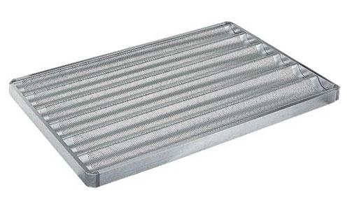 Paderno World Cuisine 41758-65 Perforated Aluminum 6 Baguette Pan
