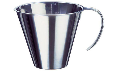 Paderno World Cuisine 42581-20 Stackable Measuring Jug  Stainless Steel WDC2794