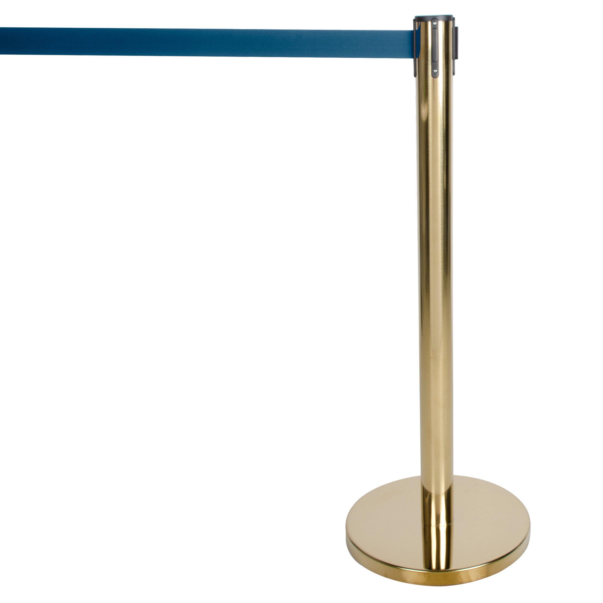 Aarco HB-7  Form-a-line Retractable Belt Stanchion Brass