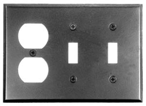 Acorn AW7BP 0322 Duplex Wall Plate 2-Toggle