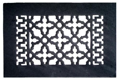 Acorn GL3BG Cast Iron Decorative Air Register - Black
