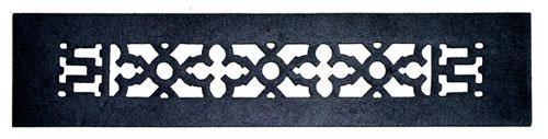 Acorn GR4BG 14 x 2.25 Black Cast Iron Decorative Grille