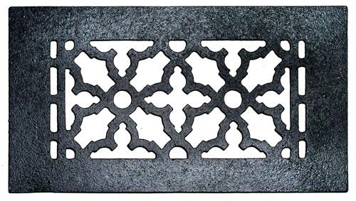 Acorn GR5BG 10 x 5-1/2 Cast Iron Decorative Grille - Black
