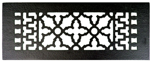 Acorn GR7BG 12 x 4 Cast Iron Decorative Grille - Black Iron
