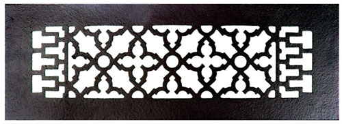 Acorn GR8BG 14 x 4 Cast Iron Decorative Grille - Black