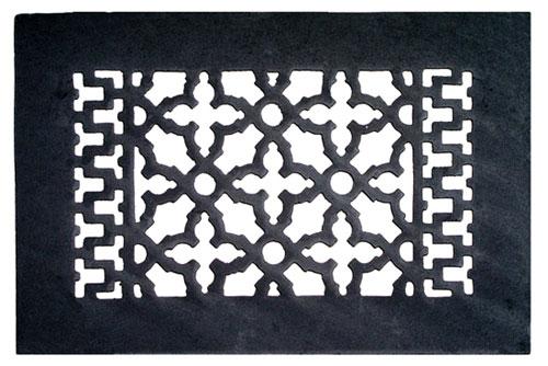 Acorn GRABG 10 x 6 Cast Iron Decorative Grille - Black