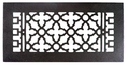 Acorn GRCBG 14 x 6 Cast Iron Decorative Grille - Black
