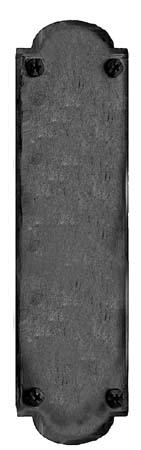 Acorn IMCBP 15-3/4 Iron Art Hand Forged Iron Push Plate - Black