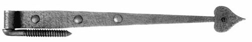 Acorn RIKBP 19.875 Inch Heavy Heart Gate Hinge with Pintle