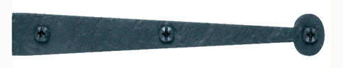 Acorn RIZBP Flush Dummy Rough Iron Bean Strap Cabinet Hinge - Flat Black