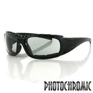 Zan Headgear BGUN001 Gunner Convertible  Black Frame  Photochromic
