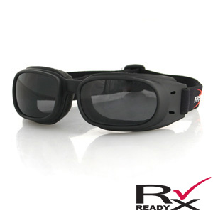 Zan Headgear BPIS01 Piston Goggle  Black Frame  Smoke Lenses