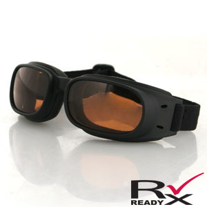 Zan Headgear BPIS01A Piston Goggle  Black Frame  Amber Lenses