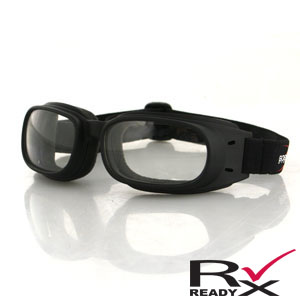 Zan Headgear BPIS01C Piston Goggle  Black Frame  Clear Lenses