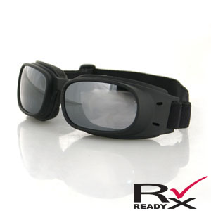 Zan Headgear BPIS01R Piston Goggle  Black Frame  Smoke Reflective Lenses BLB086