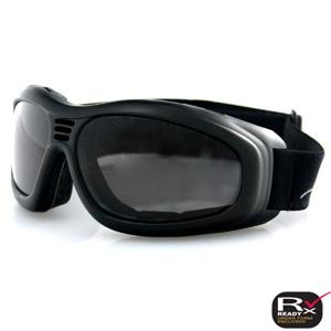 Zan Headgear BT2001 Touring 2 Goggle  Black Frame  Smoked Anti-Fog Lens