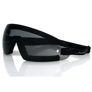 Zan Headgear BW201 Wrap Around Goggle Black Frame Smoked Lens