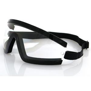 Zan Headgear BW201C Wrap Around Goggle  Black Frame  Clear Lens
