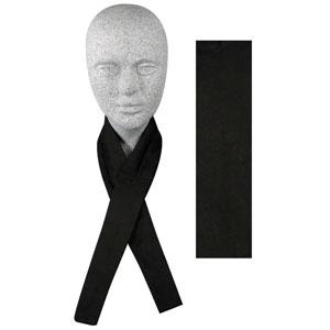 Zan Headgear DC114 Cooldanna  100 Percent Cotton  Solid Black