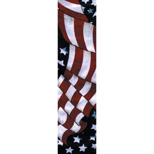 Zan Headgear DC265 Cooldanna  100 Percent Cotton  Wavy American Flag