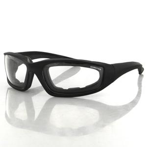Zan Headgear ES214C Foamerz 2 Sunglasses  Clear Anti-fog Lenses  Blk Frame