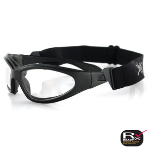 Zan Headgear GXR001C GXR Sunglasses  Black Frame  Clear Anti-Fog Lens