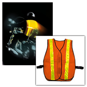 Led Safety Vest - Zan Headgear RAM17001 All Purpose Blaze Orange Safety Vest With LED Light Bar