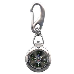 Military Belts - Zan Headgear RAMWVB38 Belt Watch Chrome Military US Army Logo Black Face
