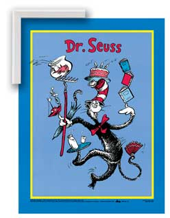 Cat In The Hat - Art4Kids GA41003 Cat In The Hat Seuss - Gallery Frame Creative Canvas