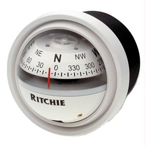 Ritchie Compass V-57W.2 12 Volt Repairable Explorer Compass - White