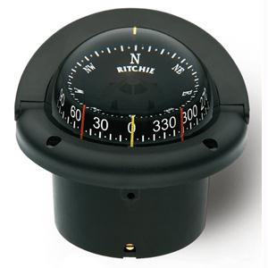 Ritchie Compass HF-743 Flush Mount Helmsman - Black