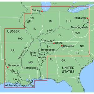 GARMIN CHARTS 010C048700 Garmin MUS036R Inland Rivers Garmin Data Card