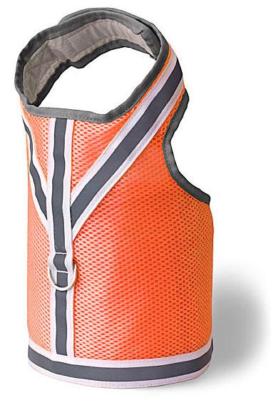 Reflective Vest - Doggles DOHAVMLG-26 Harness Vest - Reflective Mesh Orange - Large