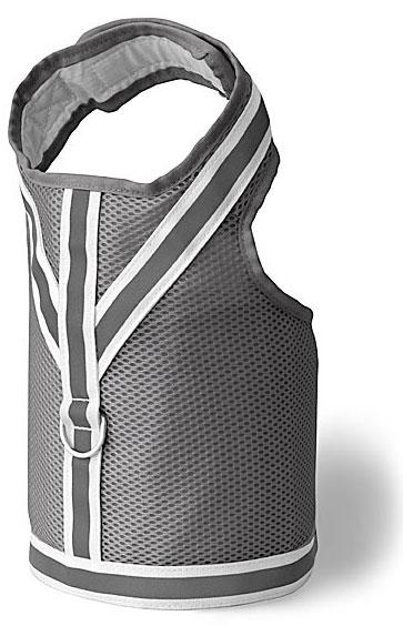Reflective Vests - Doggles DOHAVMMD-09 Harness Vest - Reflective Mesh Gray - Medium
