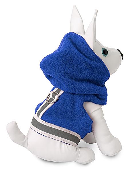 Blue Jacket - Doggles DOOWFJ08-04 Fleece Jacket Blue And Gray - Size 8