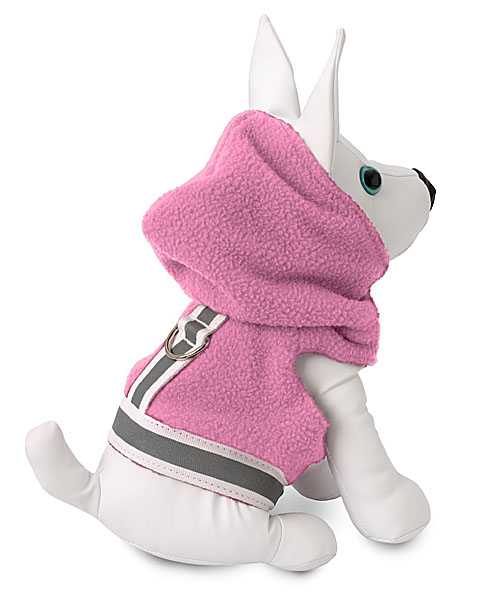 Fleece Jacket - Doggles DOOWFJ22-02 Fleece Jacket Pink And Gray - Size 22
