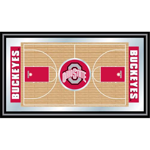 Poker LRG1500BB-OSU Ohio State University Framed Basketball Court Mirror
