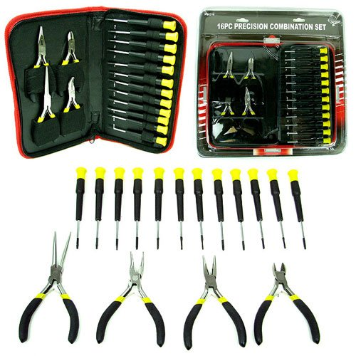 16 Piece Precision Jewelers Tool Set with Case