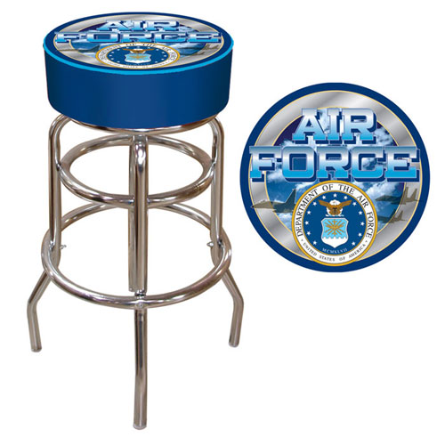 "Poker USAF-1000 14.5"" L x 14.5"" W x 30"" H US Air Force Padded Bar Stool"