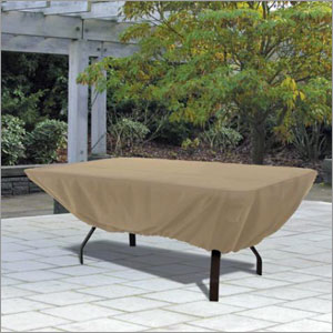 Classic Accessories 58242 Patio Table Cover Rectangle - Tan