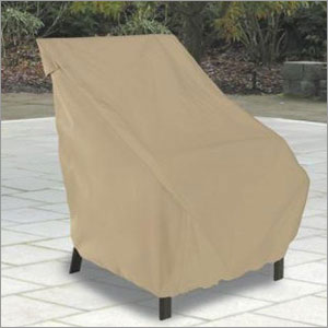 Classic Accessories 58932 Patio Chair Cover - Tan -HIBACK