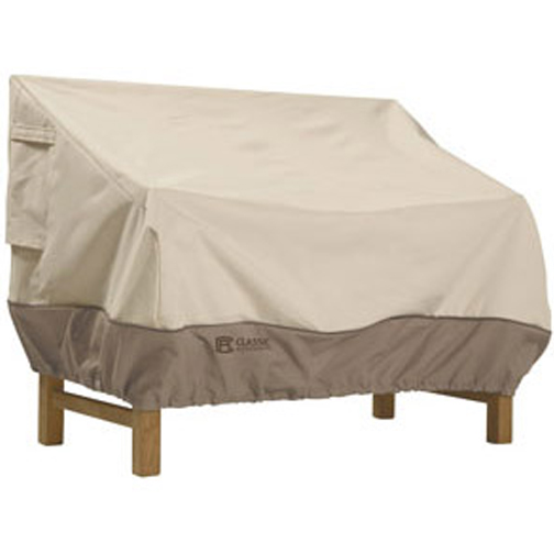 Classic Accessories 72922 Patio Love Seat Cover - Medium - Tan Trim